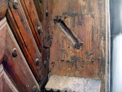traces of a mezuzah in Lviv (Lwow, Lemberg)