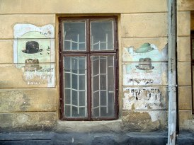 Lviv: old store advertising