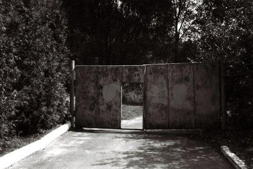 "Site of former Yanovska concentration camp - gate to ""the sands"""