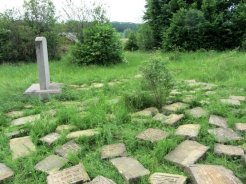 Fragments of Jewish headstones found in Rohatyn © Marla Raucher Osborn