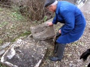 Jewish headstones - ripped by the Nazis 70 years ago from the two Jewish cemeteries – are still being found around town today.