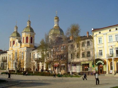 Berezhani - market square