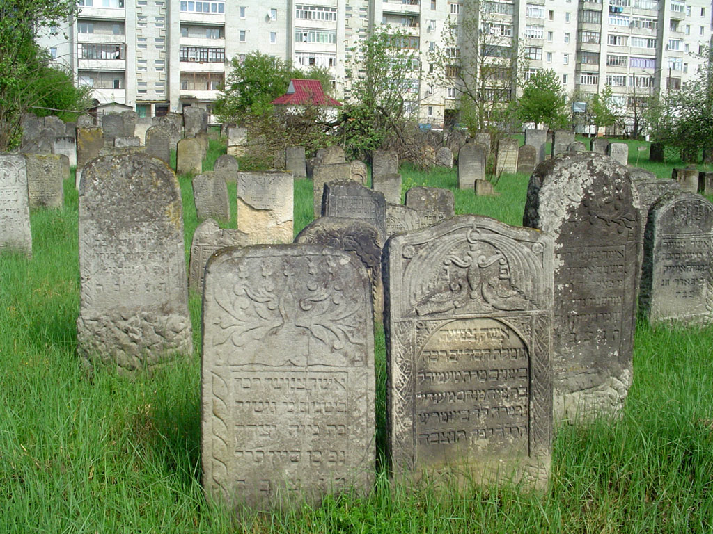 Well maintained cemetery in Kalush