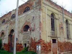 Remains of the Great Synagogue in Stryi