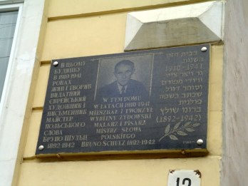 Drohobych - plaque for Bruno Schulz