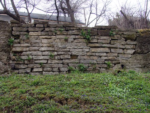 Czernowitz old Jewish cemetery, wall made from grave stones, © Mykola Kushnir