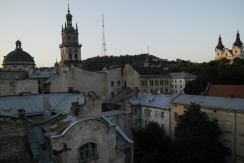 on the roofs of Lviv