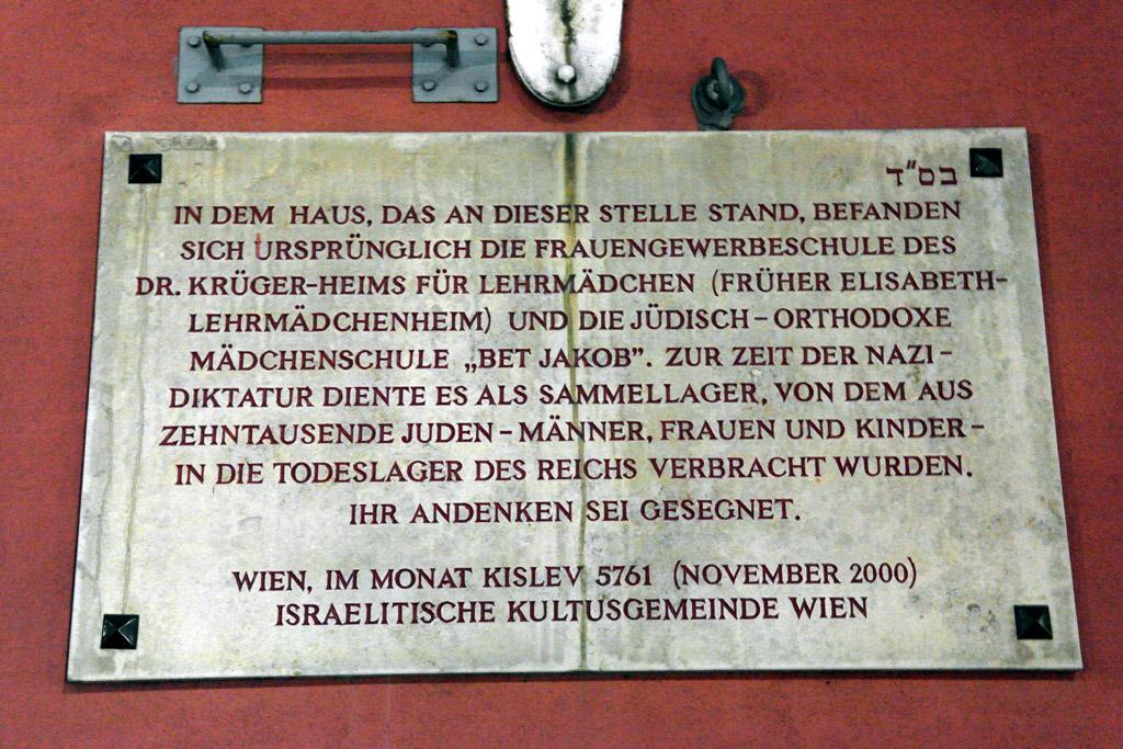 Plaque in Leopoldstadt