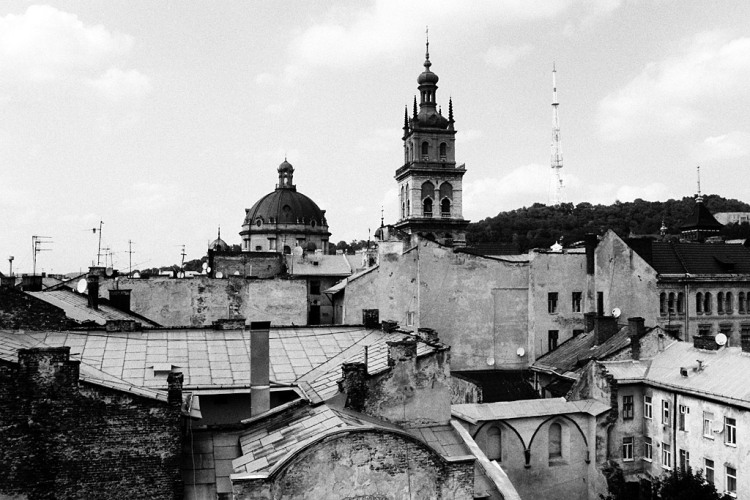 Lviv (Lwow, Lemberg), view of the medievel Jewish district, August 2012