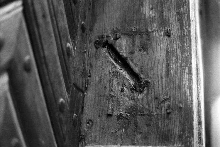 Lviv (Lwow, Lemberg), traces of a mezuzah, October 2012