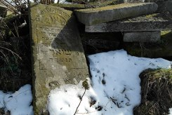 Sokal - remains of Jewish headstones