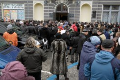 Czernowitz - ceremony for a man killed on Maidan