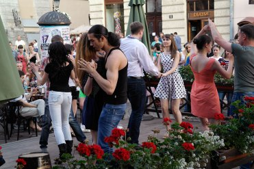 Dancing at the market square