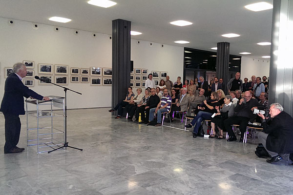 Exhibition opening, Cologne, September 17, 2014. Prof Dr Jürgen Wilhelm speaking. Photo: Jürgen Ertelt