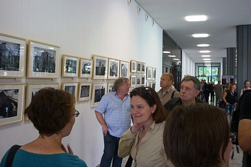 Exhibition opening, Cologne, September 17, 2014. Photo: Marion Tauschwitz