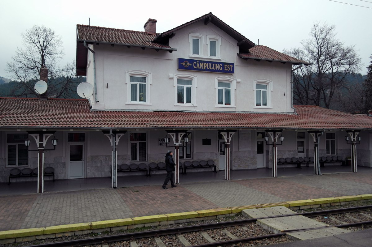 On the train to Suceava - view from the window - Campulung Est train station