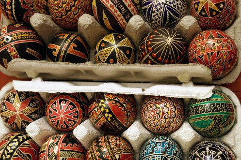 Hand-painted eggs from Suceava Easter market