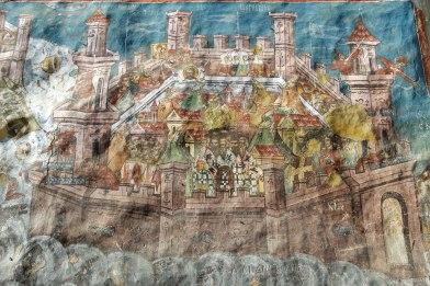 Moldovița Monastery - siege of Constantinople by the Turks