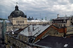 View of Lviv from Magnus warehouse