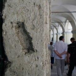 Zhovkva - trace of a mezuzah