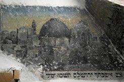 Czernowitz/Chernivtsi - mural in the 'Groisse Shil'
