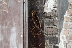 Warsaw - trace of a mezuzah