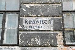 Warsaw - shop sign of a Jewish tailor in Praga