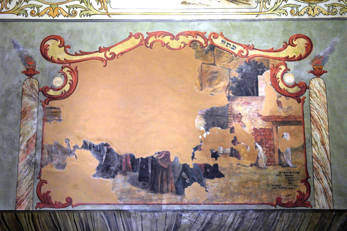 Warsaw - mural in a former prayer house, now a museum