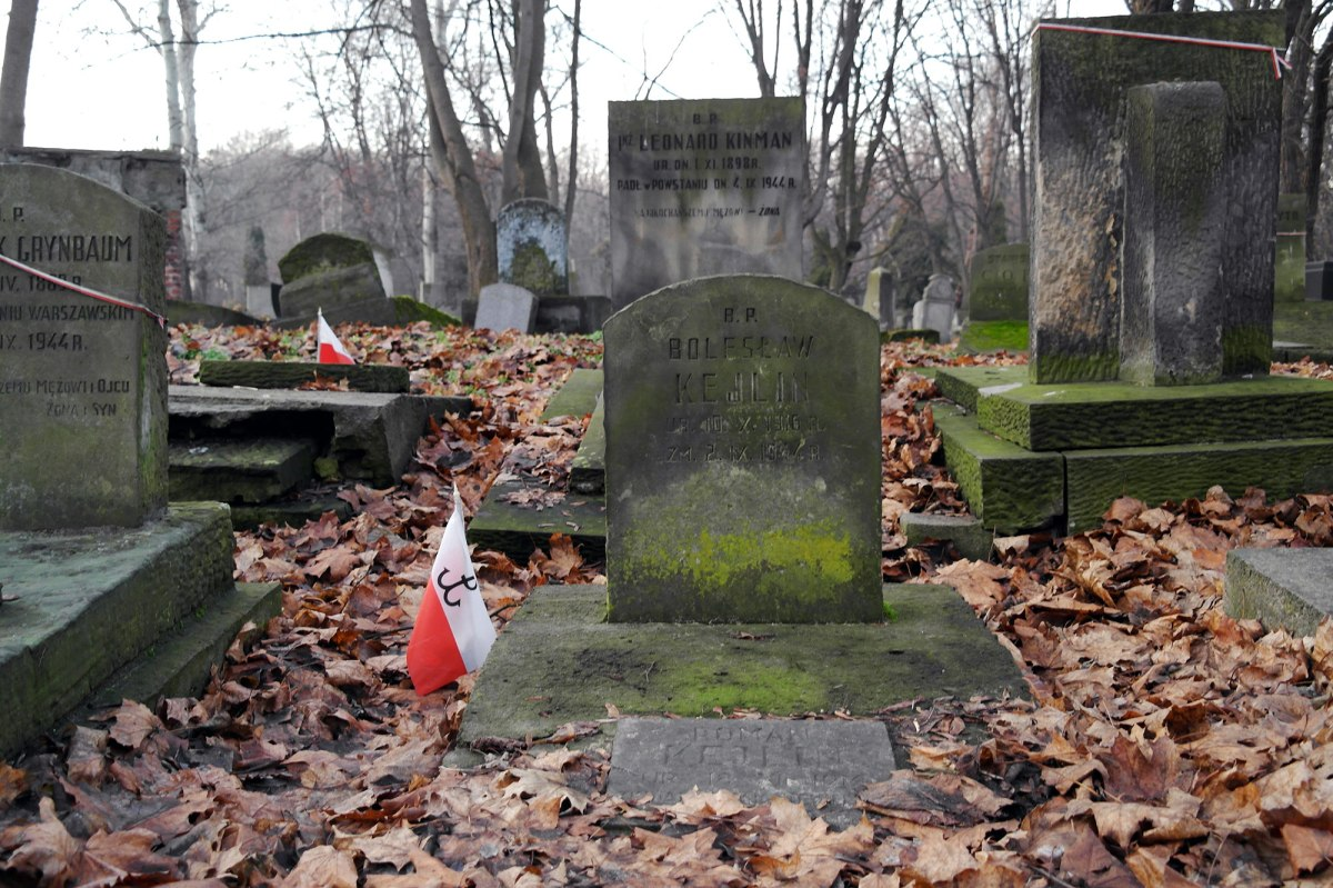 Warsaw - Jewish cemetery at Okopowa Street - grave of a Warsaw uprising fighter