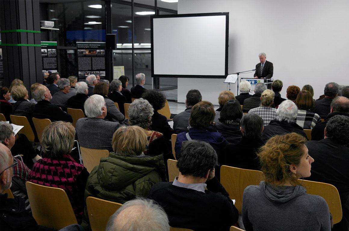 Jürgen Wilhelm - head of the Regional Assembly of the Rhineland - speaking