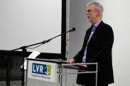 Exhibition curator Klaus Hasbron-Blume speaking