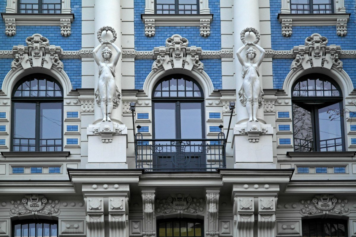 Detail from a building designed by Mikhail Eisenstein