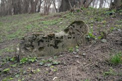 Chişinău - stump of a gravestone in the older Jewish cemetery