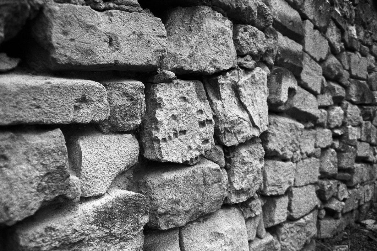 Chişinău Jewish cemetery - wall made of tombstones