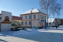 Mizoch - town center, pre-war building