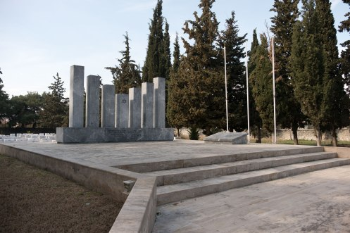 Thessaloniki Jewish cemetery, monument for soldiers of WW I