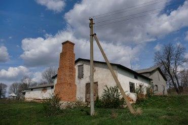 collective farm built of Jewish tombstones