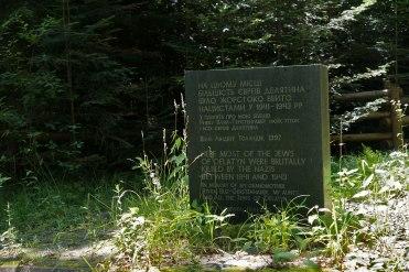 Deliatyn mass grave memorial
