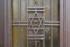 Chernivtsi (Czernowitz) - door decoration in the old Jewish quarter