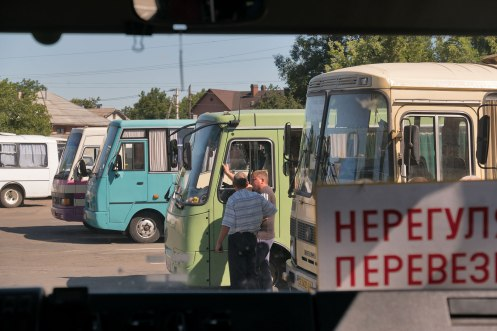Chernivtsi (Czernowitz) - waiting for the bus to leave