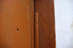 Stryi - trace of a mezuzah in the former Jewish quarter