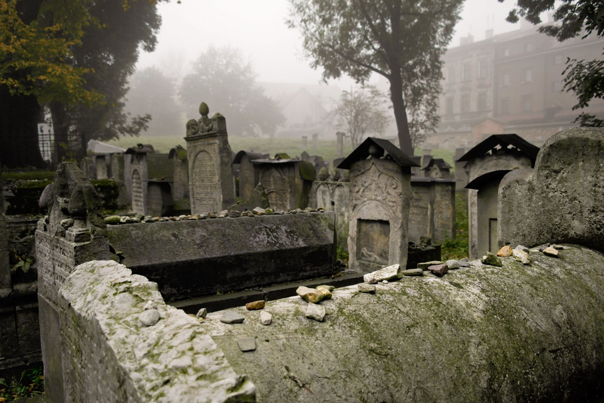 Krakow Jewish cemetery next to Remuh Synagogue, Poland