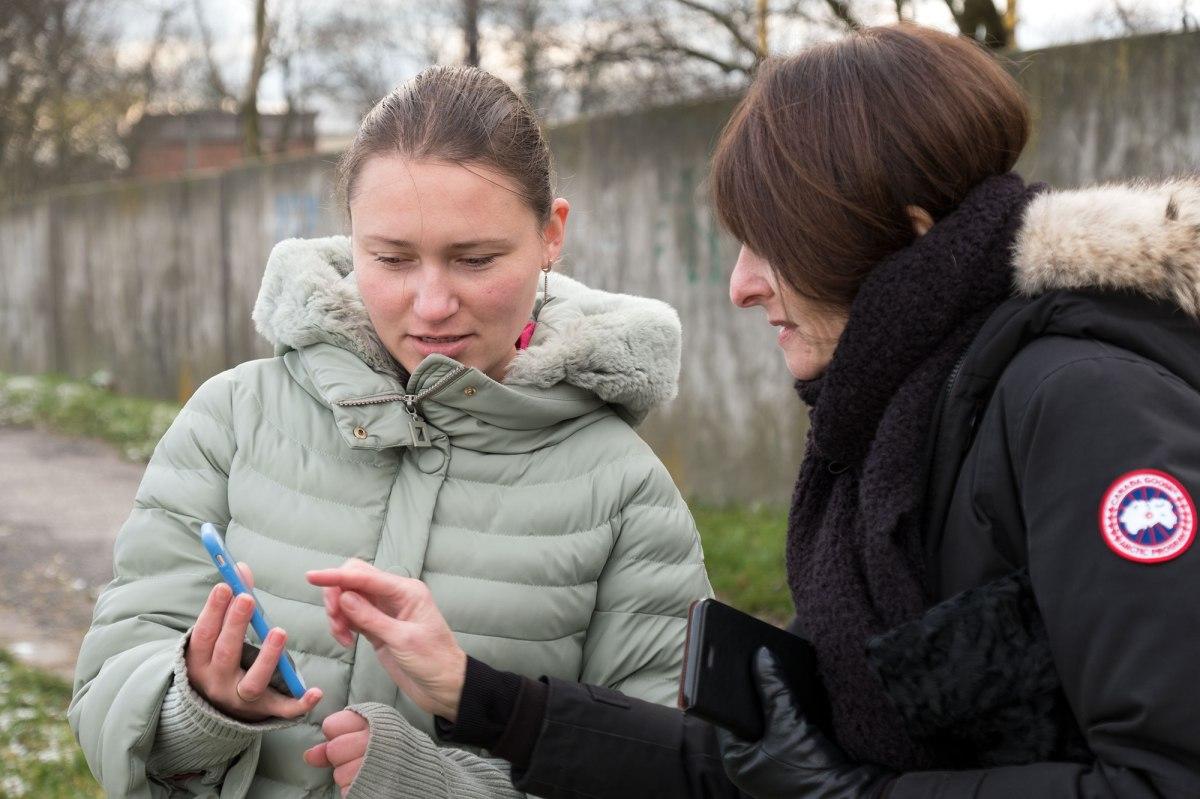 Tetyana talking with Marla