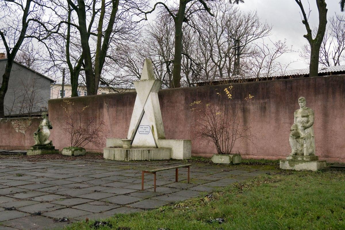 Soviet memorial at Radekhiv Christian cemetery