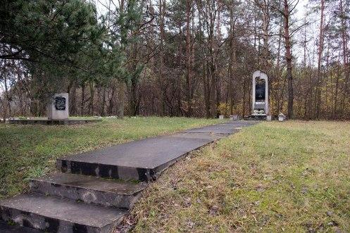 Ostroh - memorial at mass killing site