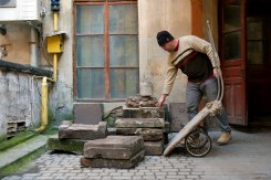 Saving Jewish tombstones at Halytska Square 15 in Lviv