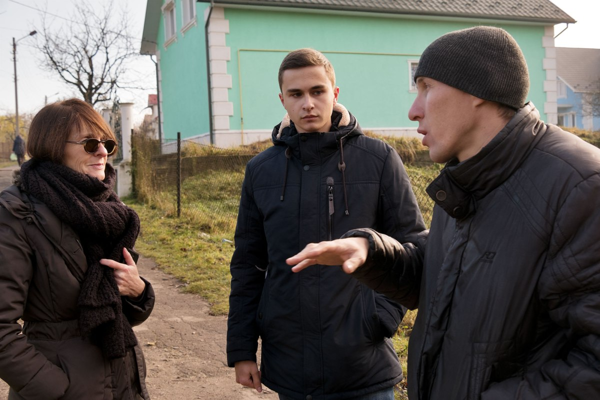 Marla, Volodya and Vasyl talking