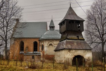 Crumbling Catholic church