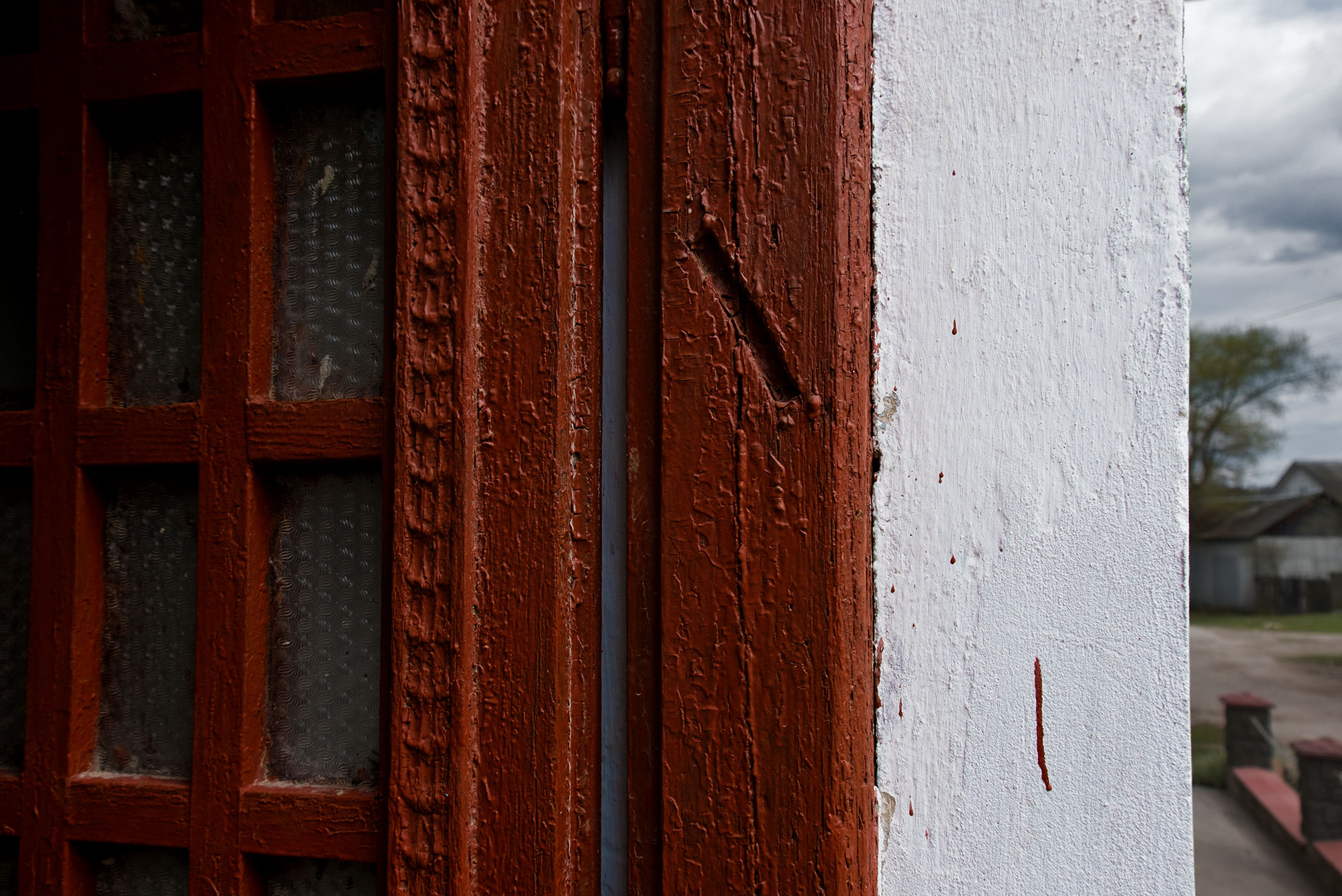 Pidhaitsi Galicia in Ukraine u2013 trace of a mezuzah at the door frame of house in the former Jewish quarter & Pidhaitsi Galicia in Ukraine u2013 trace of a mezuzah at the door frame ...