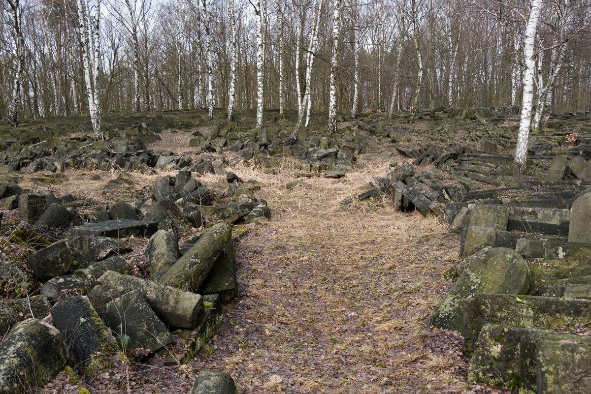 Warsaw, Mazovia in Poland - destroyed Jewish cemetery in Bródno